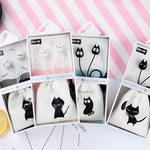 Mr. ear E ≤ 33 cartoon kitten with wheat headphones for the same expression cat receiving bag