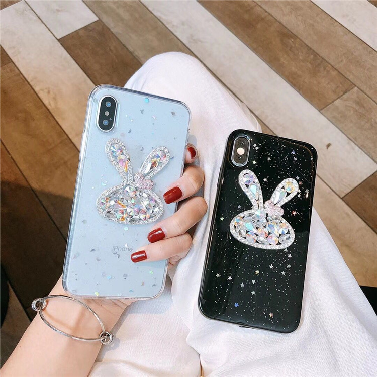 Luxury diamond creative stereo apple 8plus XR Xsmax soft all-inclusive glitter fashion protective shell 6s 7g soft