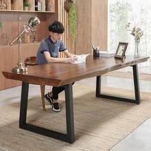 实木办公桌办公台笔记本电脑桌简约书桌工作台家用写字台写字桌