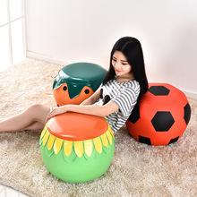 创意水果换鞋凳儿童卡通皮凳子幼儿小板凳沙发凳墩子时尚穿鞋矮凳