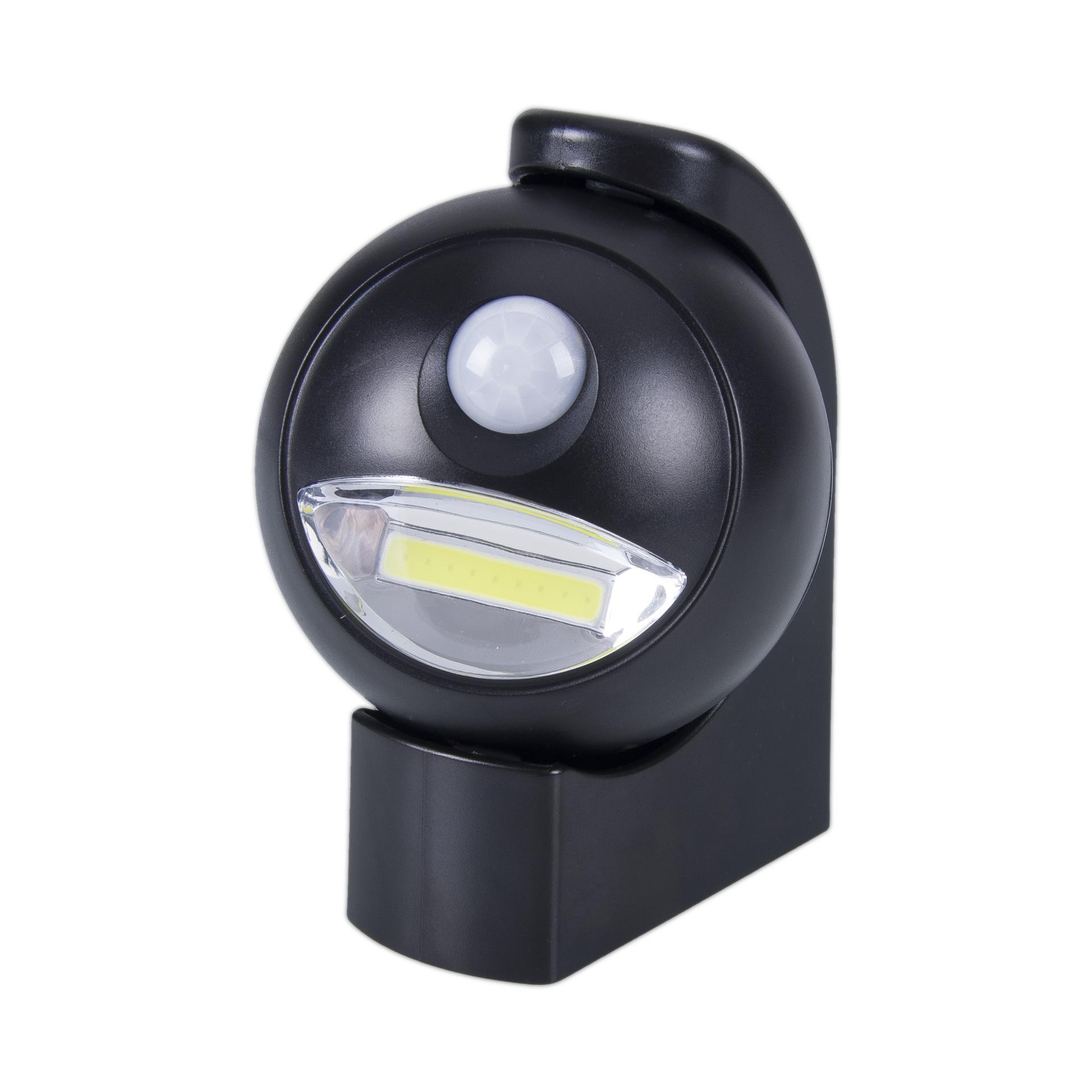360度旋转COB人体红外线感应灯 壁挂式LED智能光控小夜灯厂家直销