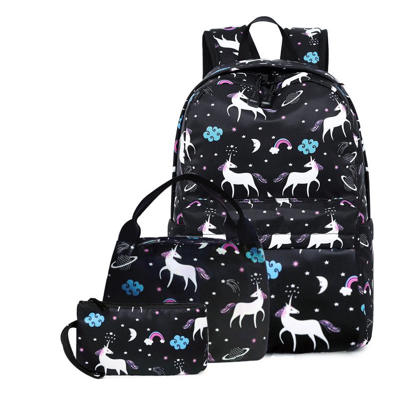 小学生书包女新款儿童背包卡通可爱书包三件淘保温午餐包斜跨包