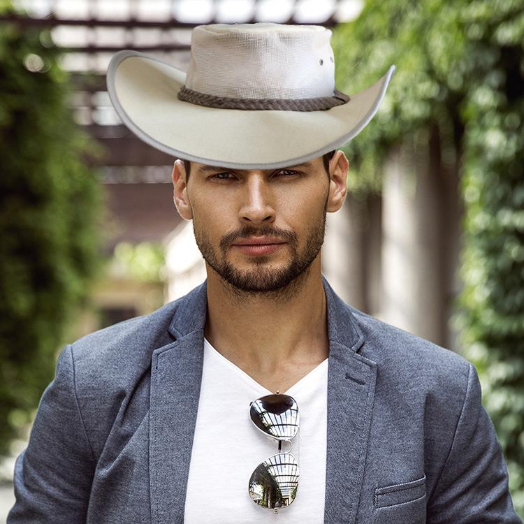 厂家直销亚马逊热卖西部牛仔透气圆边遮阳帽子批发定制