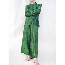 廠家直銷秋冬款壓褶絲絨兩件套女針織上衣搭配闊腿褲休閑時尚套裝