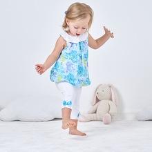 欧美童装 女宝宝 裙式上衣 两件套 小童套装  雪纺 夏款 5色可选