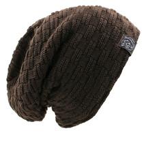 外貿爆款男套頭帽 加厚加絨毛線帽子熊頭標針織帽冬季護耳騎車帽