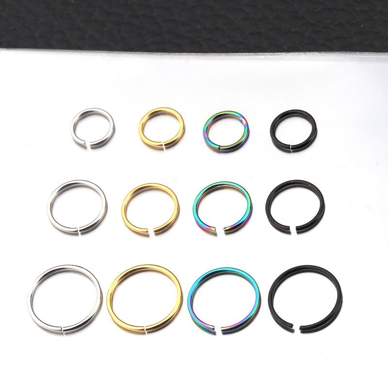 New 316L stainless steel ear bone piercing earrings multifunctional nasal septum lip ring  NHEN263964