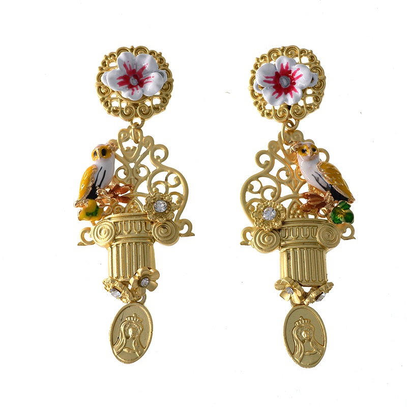 Alloy Simple Flowers earring  (Alloy) NHNT0618-Alloy