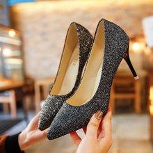 高跟鞋女式大码单鞋.Women's high heels, 9 cm high, size 35-40