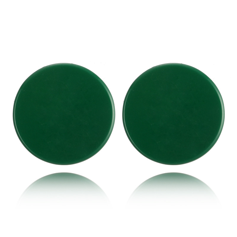 Fashion Alloy plating earring Geometric (green)NHGY1681-green