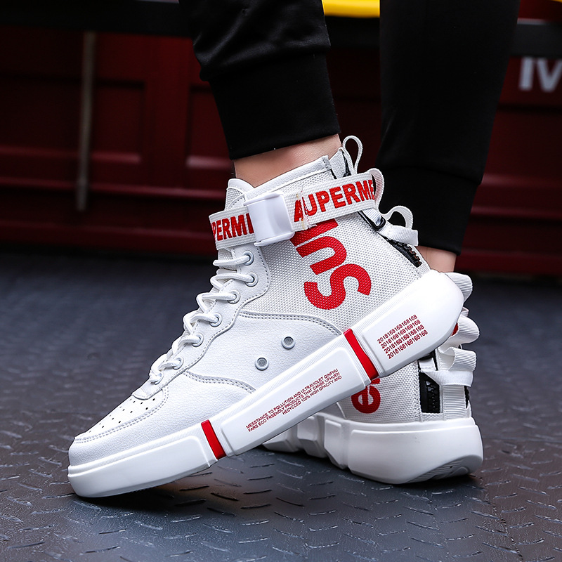 2019 Spring And Summer High Shoes Men's Sports Large Size Casual Shoes Men's Tide Hip Hop Ins Trend Men's Shoes Wd883