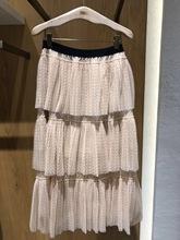 冬装新款气质百搭彩条百褶针织半身裙长裙3F4S411