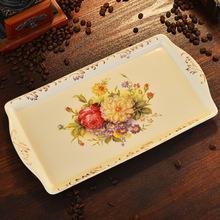 友来福 欧式创意陶瓷托盘 蛋糕盘子水果餐盘 下午茶点心盘 干果盘