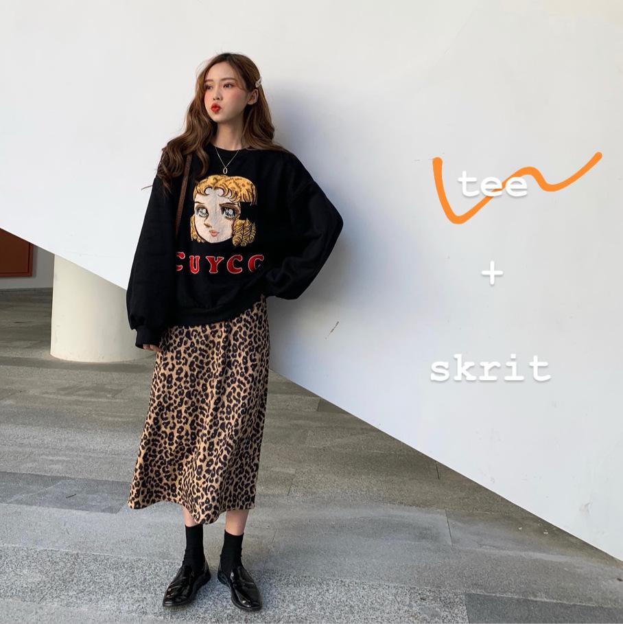 秋冬新款韩版刺绣金发女孩宽松加绒套头卫衣学生时尚休闲上衣绒衫