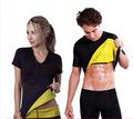 男女短袖氯丁橡胶潜水料爆汗瘦身服自发热美体塑身衣健身运动背心