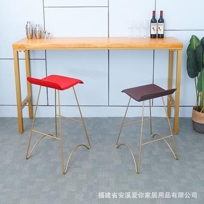 简约铁艺吧台椅 咖啡厅休闲前台吧台凳 家用餐厅休闲吧台高脚凳