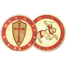 罗马教皇远征军圣殿骑士纪念章 欧洲骑士军迷收藏品工艺品