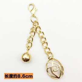 韩版创意龙虾扣金属球猫眼石钥匙扣女生时尚包包配饰挂饰汽车挂件