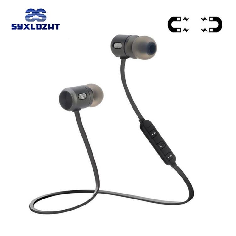 跨境专供C10金属磁吸蓝牙耳机入耳式立体声跑步运动蓝牙耳机批发