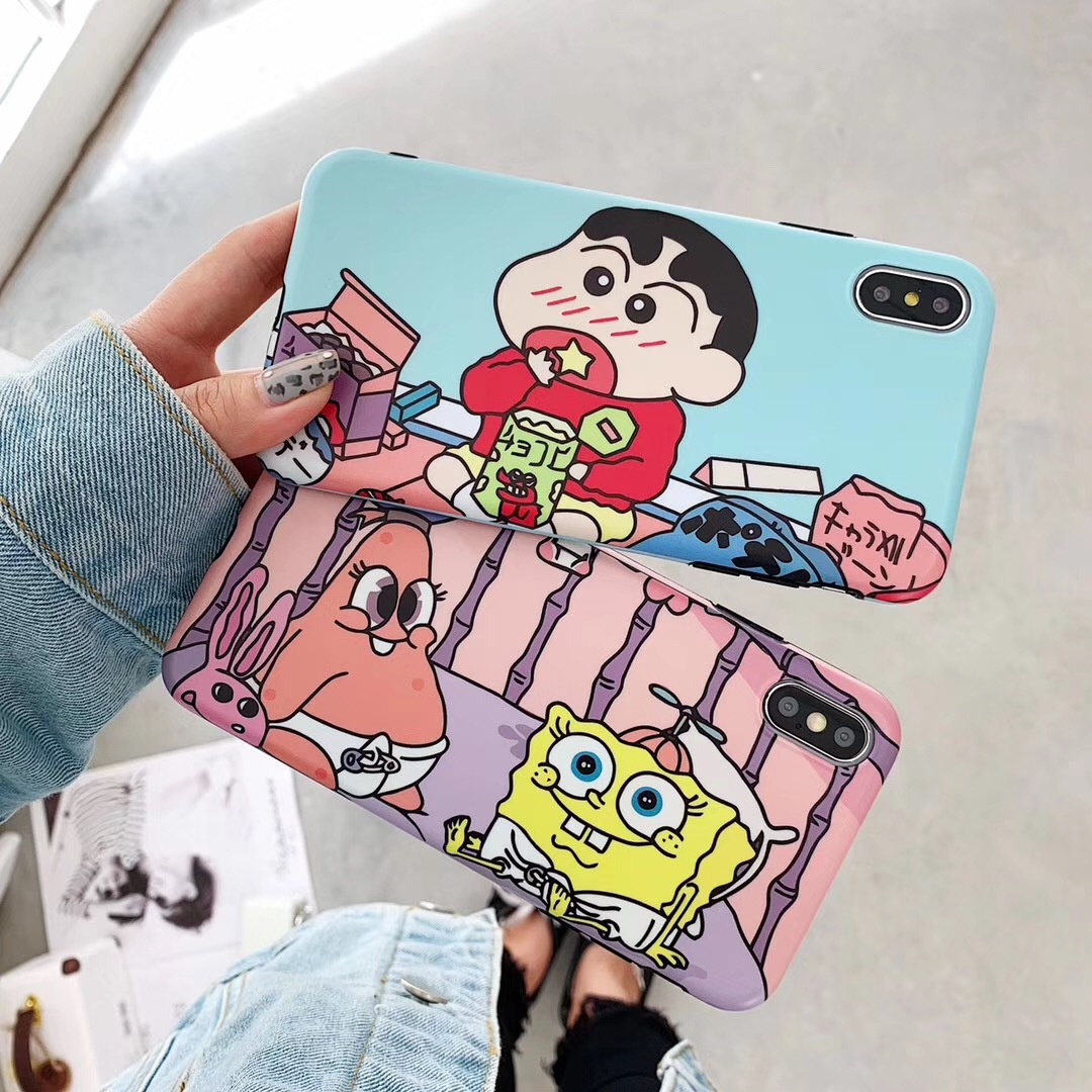 Japanese cute cartoon Crayon Shinchan Duck for 8plus mobile phone shell Apple XSMax all-inclusive silicone soft shell