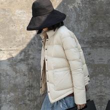 2018冬季新款外套韓版潮寬松百搭白鴨絨長袖立領輕薄羽絨服女短款