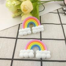 創意日韓卡通硅膠PVC彩虹貼片奶油手機殼DIY飾品零錢包配件