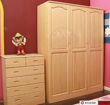 供应新款简约实木三门衣柜 现代卧室简易实木四门衣柜二门柜定制