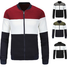 foreign trade autumn new style British temperament stand collar men's stitching jacket trend men's jacket XY300