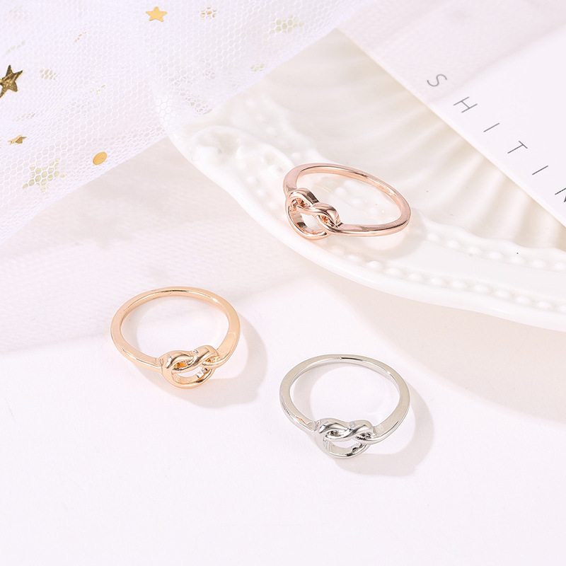 Best selling knotted peach heart love ring ring tail ring jewelry wholesale NHCU192718