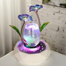 家居流水摆件客厅电视柜创意鱼缸喷泉饰品陶瓷加湿欧式礼品工艺品