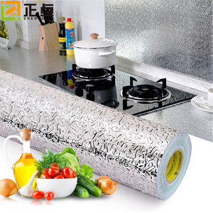Kitchen wall stove aluminum foil oil proof paste anti pollution high temperature resistant aluminum foil wall paste thickening self adhesive cutting wallpaper