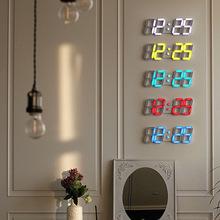 萬年歷led電子鐘 客廳現代創意3D立體鐘多功能大數字夜光靜音掛鐘