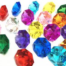亚克力尖底钻柜台装饰品绚丽色彩八角仿水晶钻儿童宝石幼儿奖励
