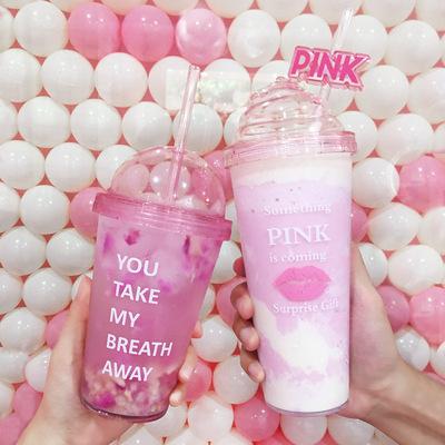 厂家直销定制图案 广告杯冰淇淋 杯子 创意 奶油盖唇印单层杯大