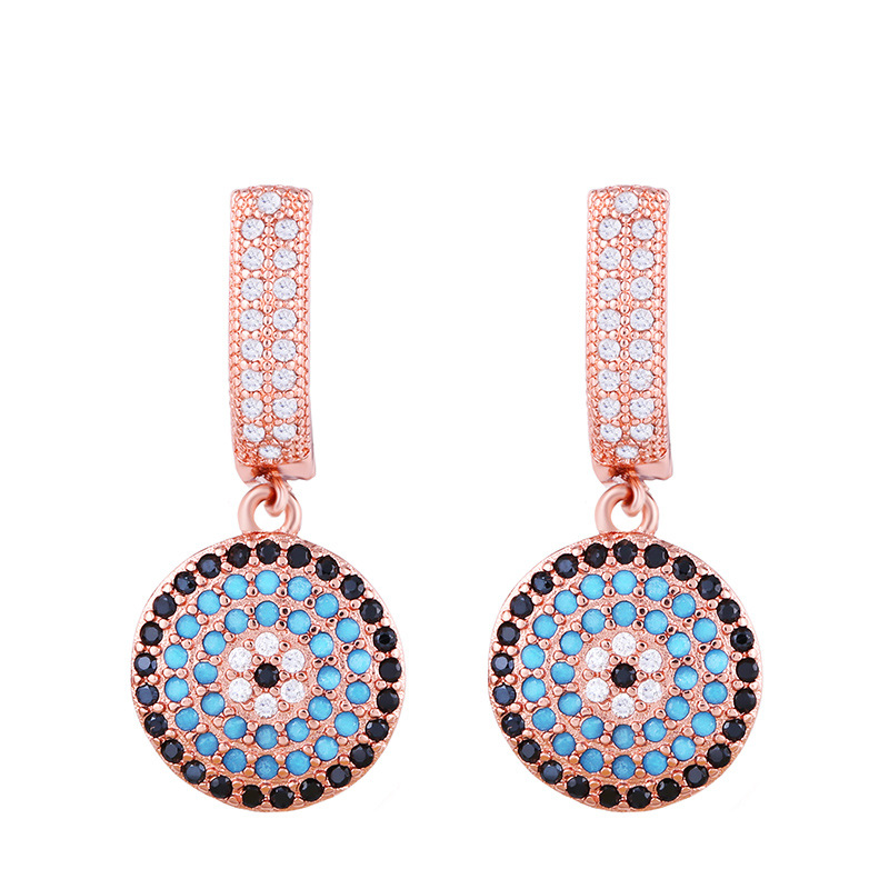 Europe and the United States exaggerated zircon earrings NHAS171010