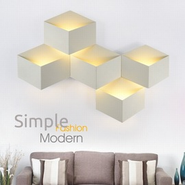 New LED bedside Lamp Engineering Creative bedroom Lighting Hotel Room Wall Lamp LED Iron geometric Personality Wall Lamp