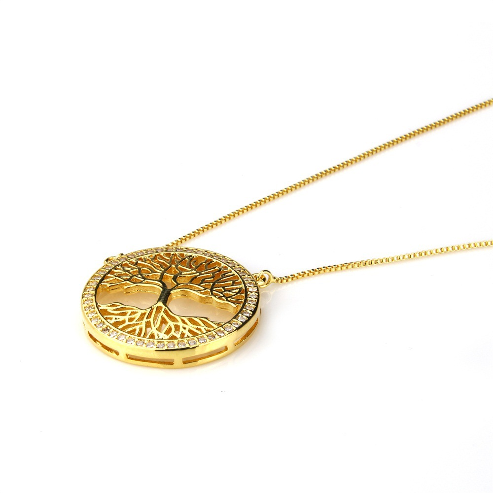 Copper Fashion Geometric necklace  (Alloy) NHBP0318-Alloy-plated