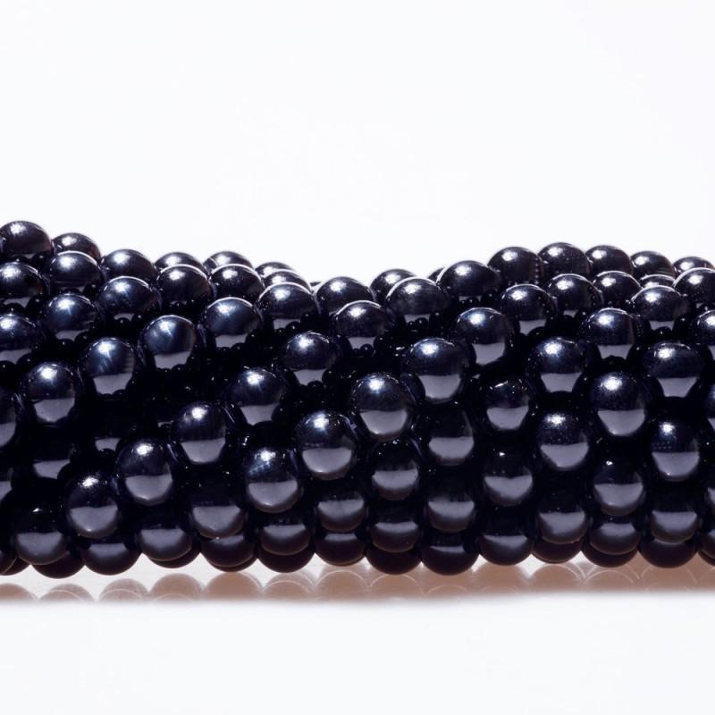 DIY散珠材料玻璃仿珍珠玻璃珍珠人造珍珠优质不掉皮不掉色80#黑色