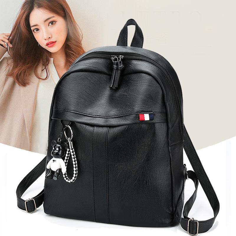 2018新款韩版双肩包时尚韩版学生背包学院风休闲旅行包潮一件代发