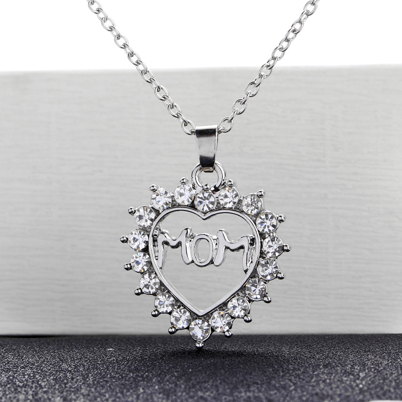 New fashion love diamond MOM mother's day gift necklace wholesale NHMO209078