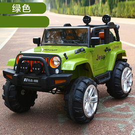Children's four-wheeled electric car remote control can sit 1 / 5 / 7-year-old double boys and girls oversized four-wheel drive car