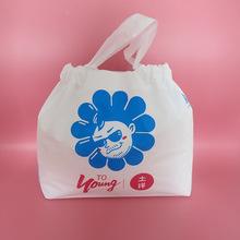cpe束口袋 磨砂半透明購物袋 pe條手提禮品袋廠家定制塑料包裝袋