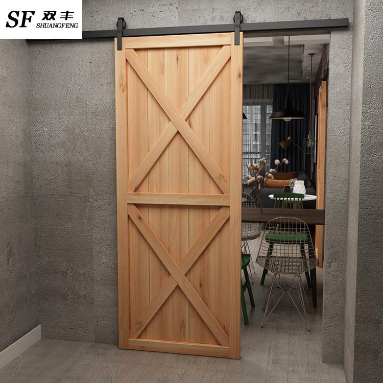 铁艺复古谷仓门 实木门工业风餐厅酒吧卧室内餐厅个性化卫生间门