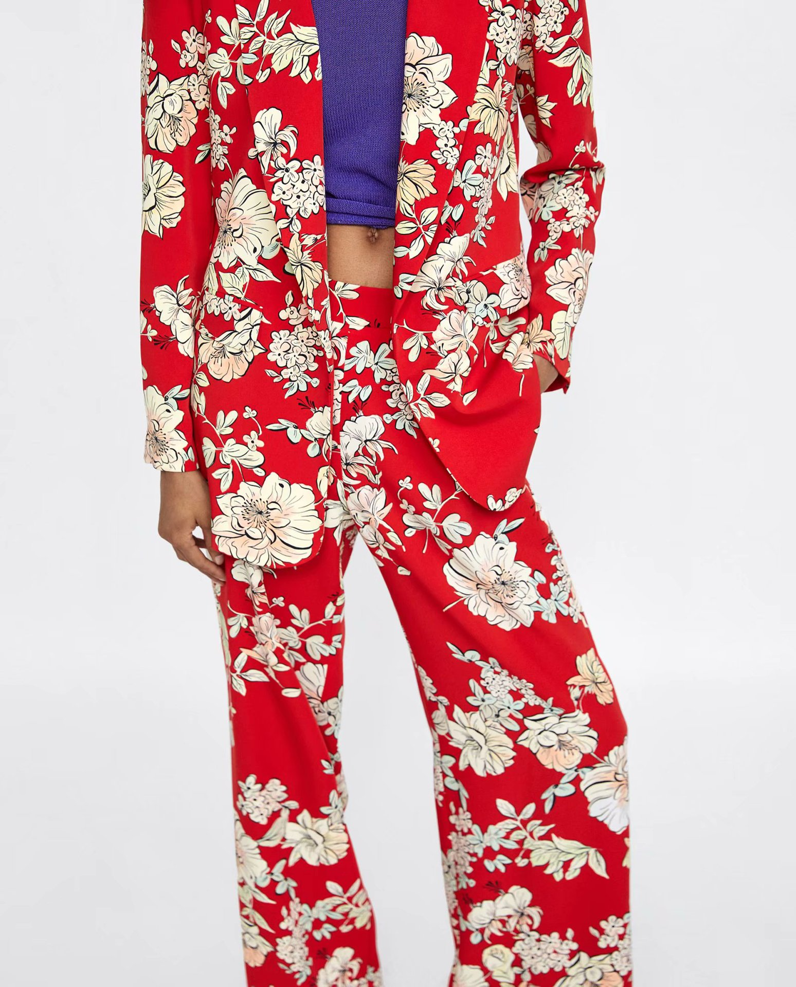Polyester Fashioncoat(Red-S) NHAM4457-Red-S
