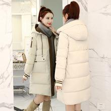 初中生少女羽绒棉服女中长款韩版高中学生2018新款加厚棉衣外套女