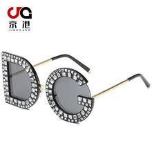 2019新款个性字母太阳镜 DG镶钻太阳眼镜 欧美潮流墨镜厂家直销