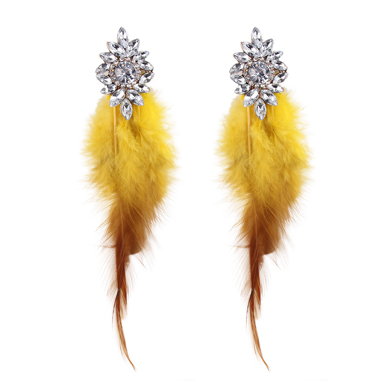 Alloy Fashion Flowers earring  (yellow) NHJQ10617-yellow