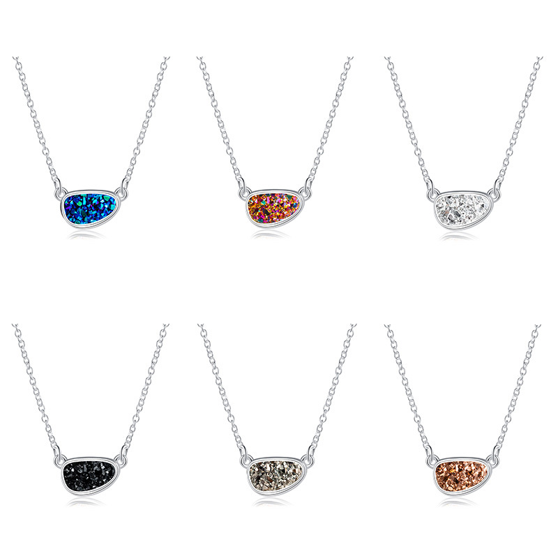 Fashion Crystal Cluster Necklace Imitation Natural Stone womens necklace NHAN251895