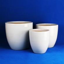 厂家直销大陶瓷花盆 白色陶瓷花盆批发定制 创意花盆