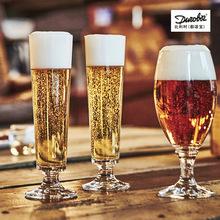 比利時都諾寶超大號高腳啤酒杯 玻璃花茶杯果汁飲料杯 創意特飲杯